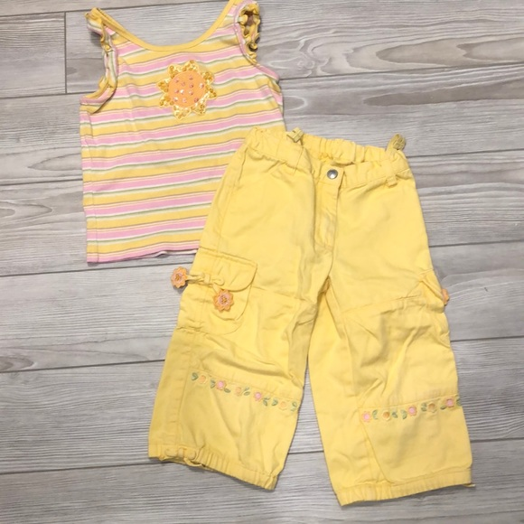 Gymboree 2 pc outfit set top bottom capri pants skirt shorts 12 18 24 2 3 5